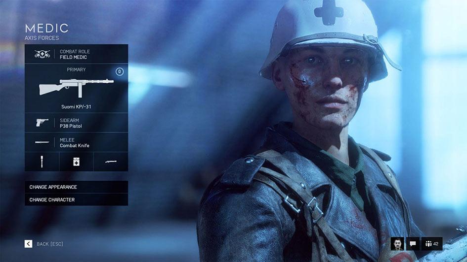 Battlefield V Medic Class - Combat Roles