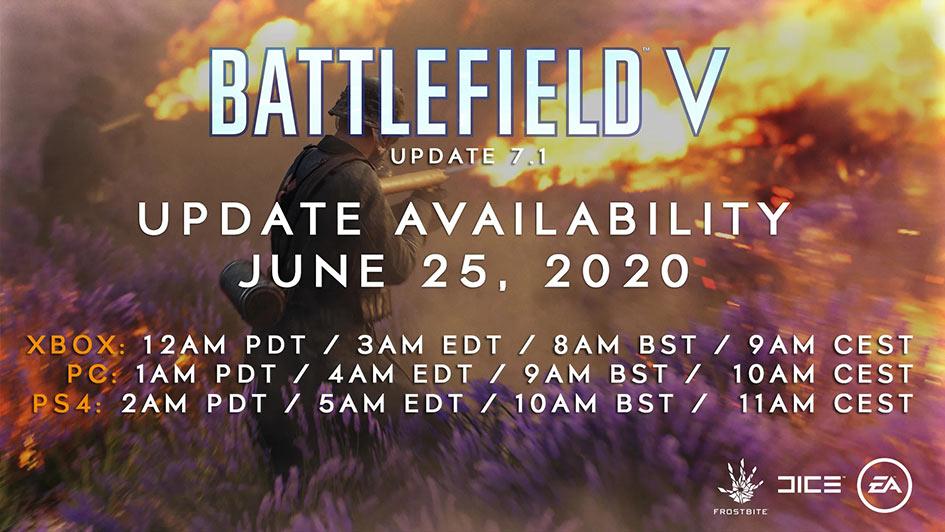 Battlefield V Update 7.1 - Notes