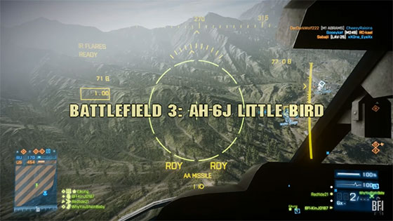 Battlefield 3 AH-6J Little Bird