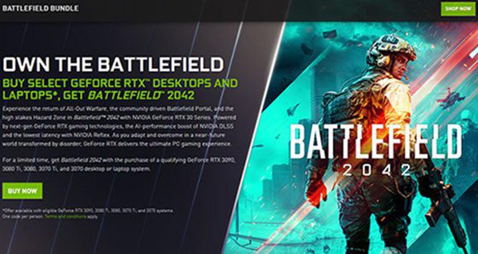 Battlefield 2042 GeForce RTX Desktop and Laptop Bundle